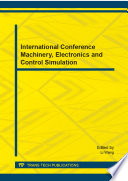 International Conference Machinery  Electronics and Control Simulation