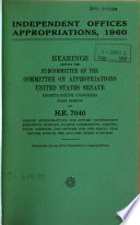 Independent Offices Appropriations For 1962