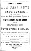 Pdf Hodges' New Bank Note Safe-guard
