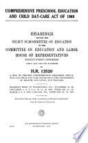 Comprehensive Preschool Education and Child Day care Act of 1969 Book PDF