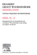 Kramers' groot woordenboek Nederlands