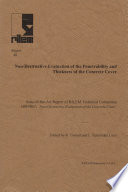 Report 40  Non Destructive Evaluation of the Penetrability and Thickness of the Concrete Cover   State of the Art Report of RILEM Technical Committee 189 NEC