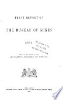 Annual Report on Mineral Industry Operations in Ontario During Calandar Year