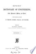 Spons  dictionary of engineering  ed  by O  Byrne  and Spon   8 div