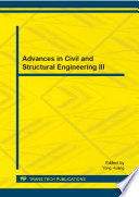 Advances in Civil and Structural Engineering III