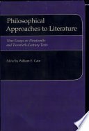 Philosophical Approaches to Literature