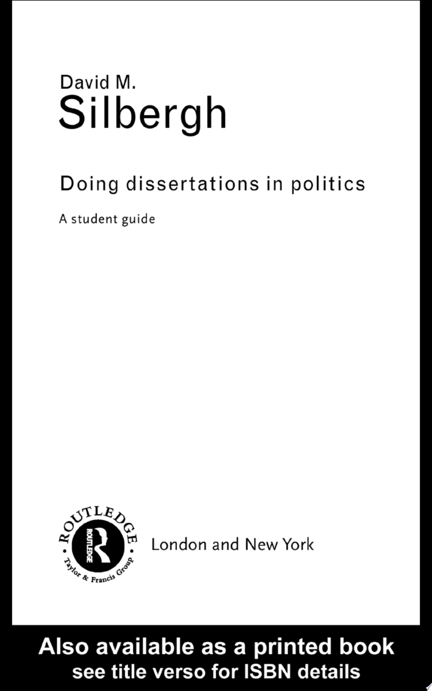 Doing Dissertations in Politics