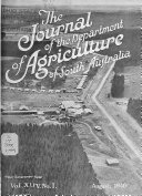 Journal of Agriculture and Industry of South Australia