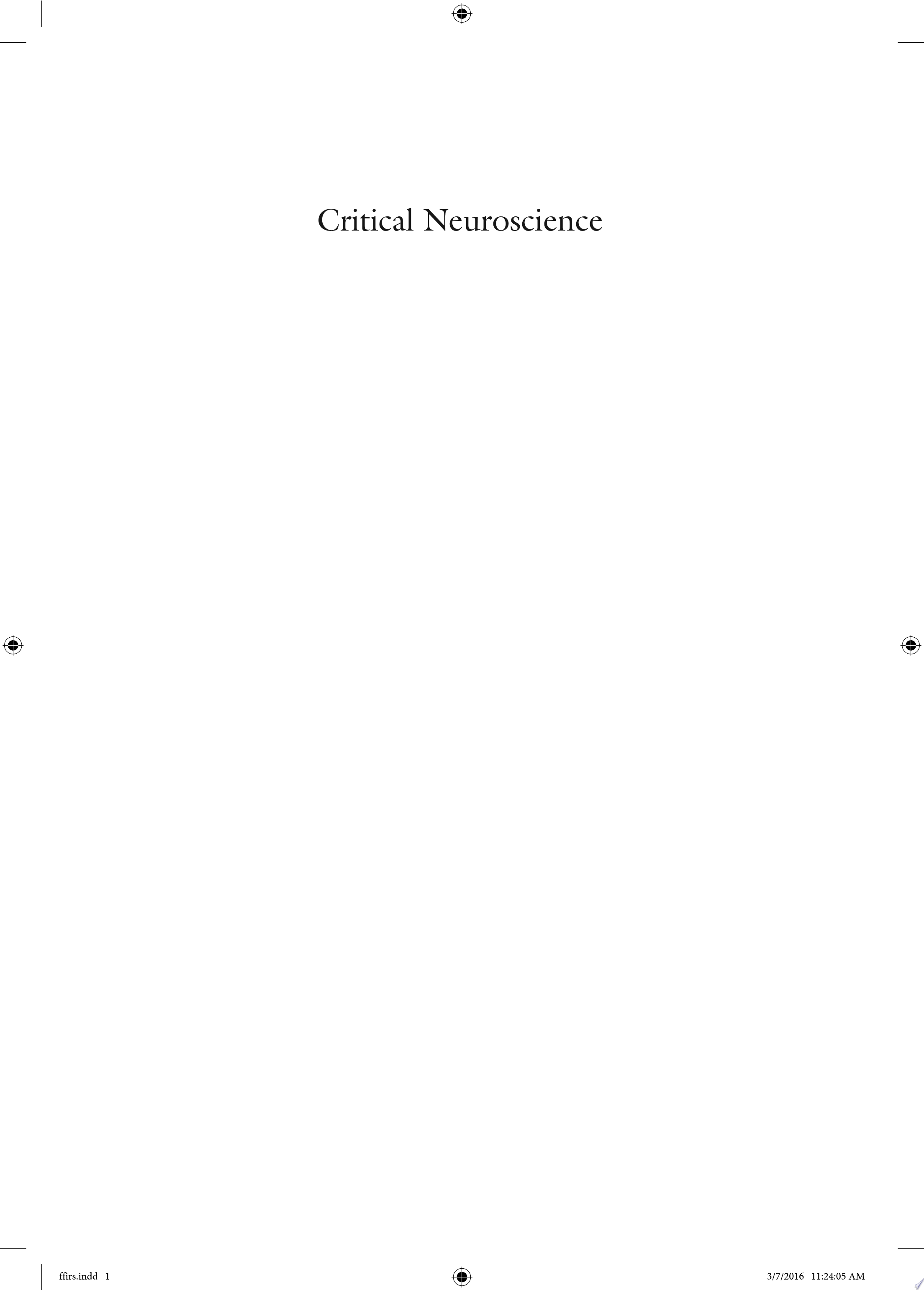 Critical Neuroscience