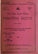 The New South Wales Industrial Gazette Book