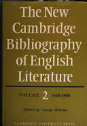 The New Cambridge Bibliography of English Literature: