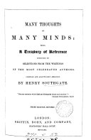 Many thoughts of many minds  Compiled by H  Southgate