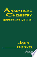 Analytical Chemistry Refresher Manual Book PDF