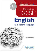 Books - Cam/Ie Igcse Eng Sec Lang T+Cd   ISBN 9781444191653