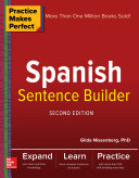 Pdf Practice Makes Perfect Spanish Sentence Builder, Second Edition Telecharger