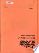 National Defense Graduate Fellowships