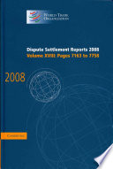 Dispute Settlement Reports 2008: Volume 18, Pages 7163-7758