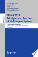 PRIMA 2014: Principles and Practice of Multi-Agent Systems