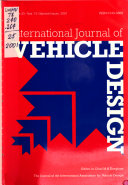 International Journal of Vehicle Design Book