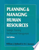 Planning and Managing Human Resources Book