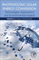 Photovoltaic Solar Energy Conversion Book