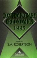 Contemporary Ergonomics 1995