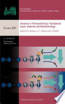 Advances in Thermoelectricity  Foundational Issues  Materials and Nanotechnology