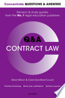 Concentrate Questions and Answers Contract Law  : Law Q&a Revision and Study Guide