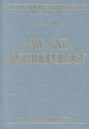 Law and Anthropology Book