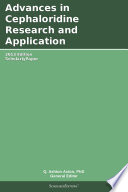 Advances In Cephaloridine Research And Application 2013 Edition Book PDF