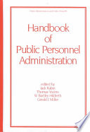 Handbook of Public Personnel Administration