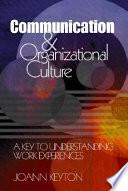 Communication and Organizational Culture