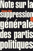 Note sur la suppression générale des partis politiques Pdf/ePub eBook