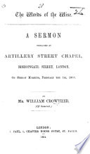 The Words of the Wise  A Sermon Preached     on Sunday Morning  February the 1st  1863 Book