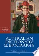 Australian Dictionary of Biography  Volume 19