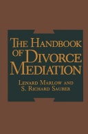 The Handbook of Divorce Mediation Pdf/ePub eBook