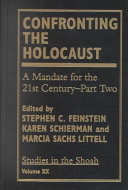 Confronting the Holocaust Book