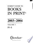 Subject Guide to Books in Print, 1992-93