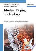 Modern Drying Technology  Volume 3 Book