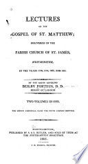 Lectures On The Gospel Of St Matthew