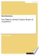 Due Diligence During Company Mergers   Acquisitions