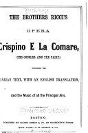 The brothers Ricci s opera Crispino e la comare