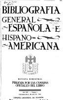 Bibliograf A General Espa Ola E Hispanoamericana