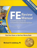 FE Review Manual  Third Edition Book
