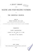 A Select Library of the Nicene and Post Nicene Fathers of the Christian Church