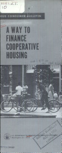 A Way To Finance Cooperative Housing