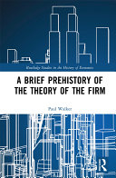 A Brief Prehistory of the Theory of the Firm Pdf/ePub eBook