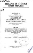Regulation of Income Tax Return Preparers