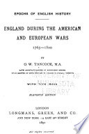England During the American and European Wars  1765 1820
