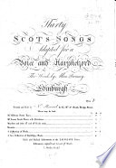 Thirty Scots Songs Etc J Johnson Sculpt Bk 2 Book